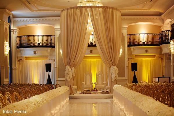 indian wedding ceremony,seats decor,aisle flowers,mandap