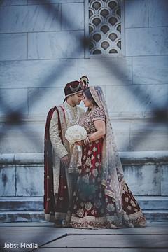 Tender Indian bride and groom shoot.