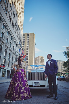 Amazing Indian bride and groom outdoors photo.