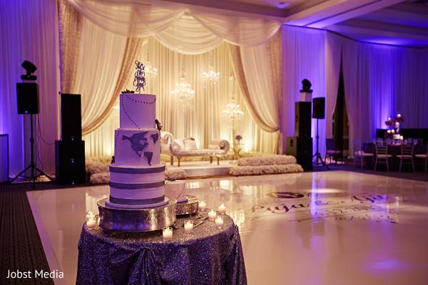 indian wedding reception decor,cake,dance floor,stage