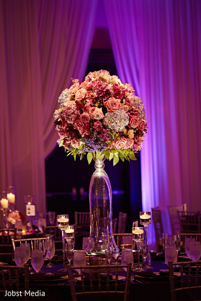indian wedding reception decor,candle decor,table centerpiece,flowers
