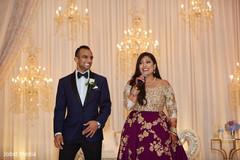 Lovely indian bride wedding speech scene.
