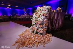 Rose petals design for the Indian wedding