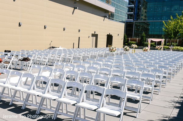 Chairs ready for the Indian wedding guests