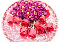 Beautiful flower arrangement for the Indian wedding reception