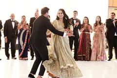 Memorable Indian bride and groom's dance.