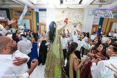 Indian wedding reception game.