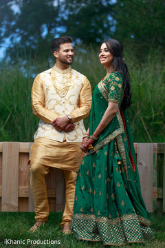 Lovely Indian couple walking outdoors capture.