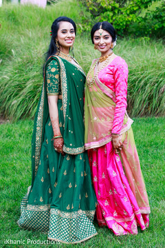 Outdoor themed Indian bride and bridesmaid photo session.