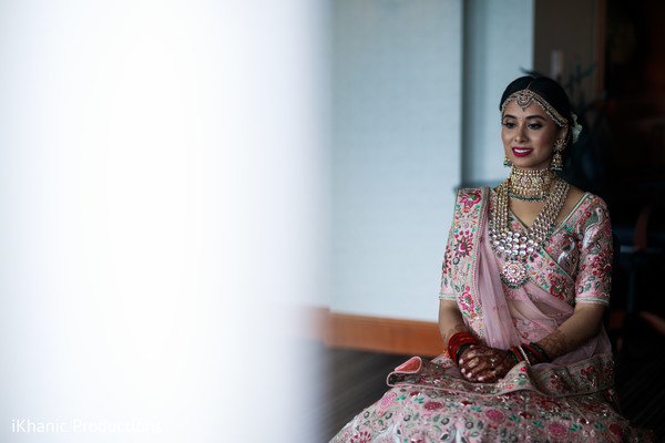 Enchanting Indian bridal ready for ceremony.