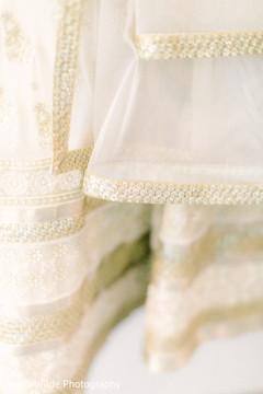 Stunning Indian bridal lengha with Swarovski crystals.
