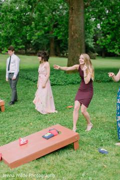 Fun Indian wedding reception game capture.