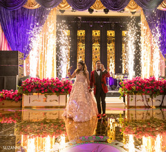 Spectacular indian newlyweds entrance