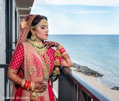 Stunning maharani looking at the beach