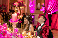 Indian newlyweds creating new memories at their reception