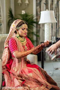 Indian bride getting ready for her big day