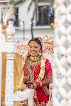 Stunning maharani at her wedding ceremony