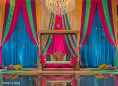 Gorgeous Indian wedding color decor
