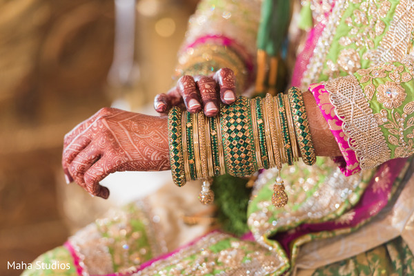 Indian bride wearing traditional jewelry