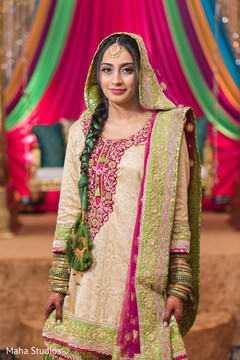 Stunning Indian bride before the ceremony