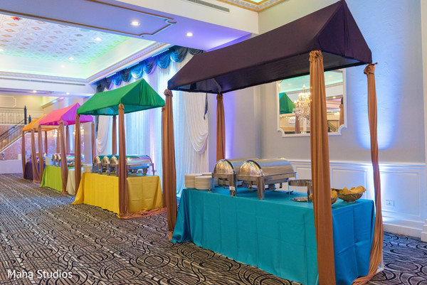 Catering section of the Indian wedding venue