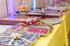 Gift table at the Indian wedding venue