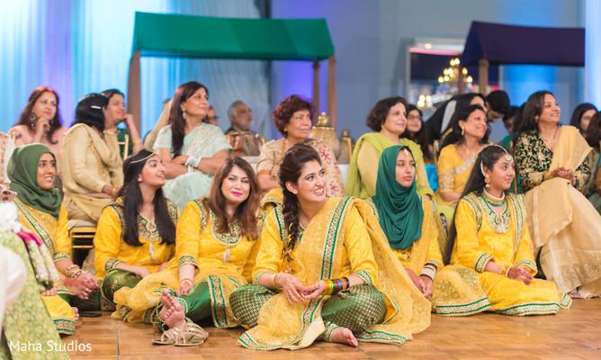 Bridesmaids during the pre wedding rituals