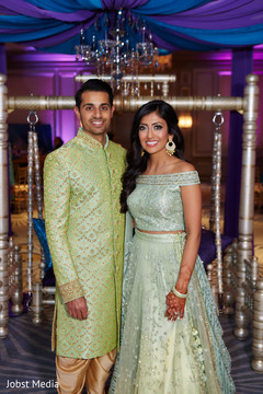 Lovely indian couple at their sangeet