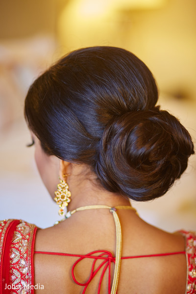Indian bride hairstyle