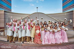 Indian couple with their bridal party