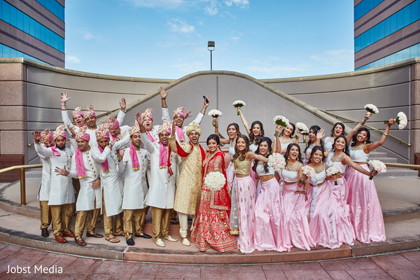 indian bridesmaids,indian groomsmen