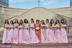 Fabulous indian bride with her bridesmaids