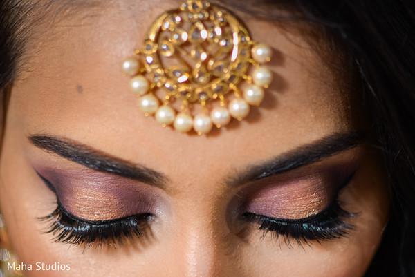 Indian bride's make up close up