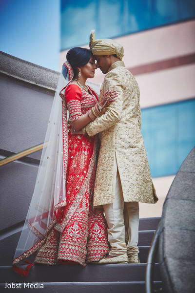 Romantic indian couple portrait
