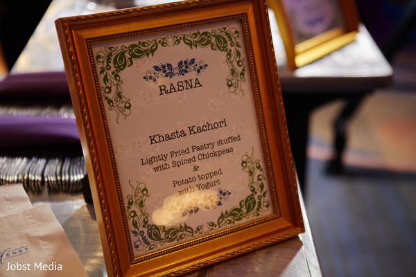Indian wedding food sign