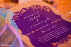 Beautiful invitation close up shot