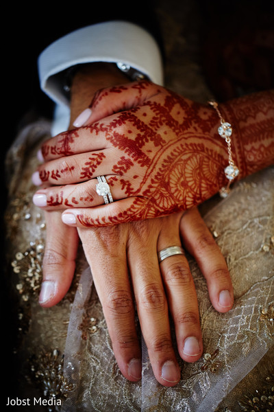 Indian couple holding hands