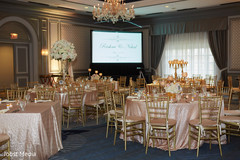 Romantic indian wedding reception set up