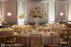 Over the top indian wedding reception decor