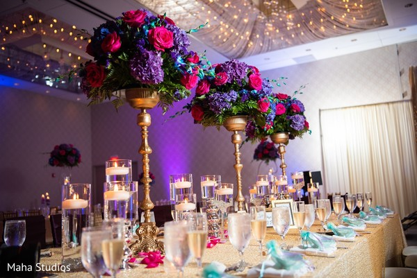 indian wedding,reception,floral,arrangement