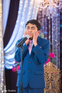 Kid performing during the Indian wedding reception