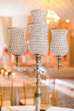 Marvelous Indian wedding ceremony candle decoration.