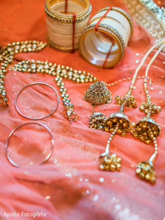 Detail of maharani's bridal jewelry