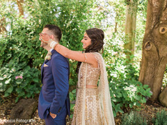 Maharani surprising the raja prior to the ceremony