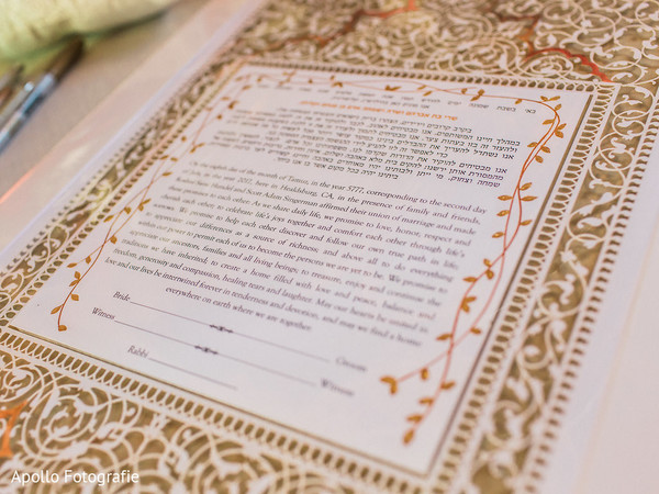 Contract to be signed at the Indian wedding
