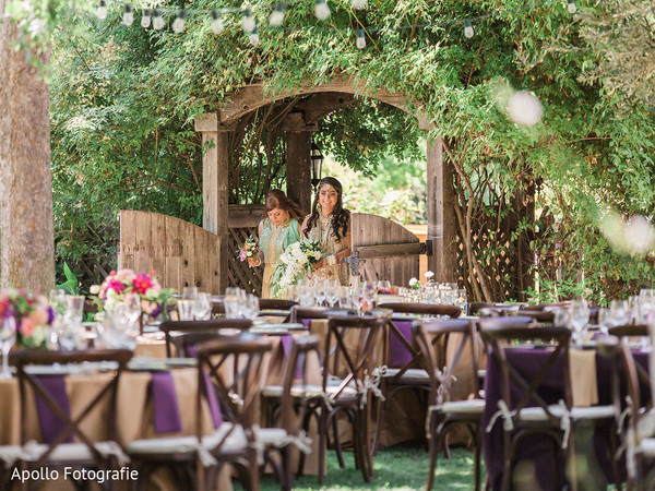 indian bride,tables,venue,outdoors