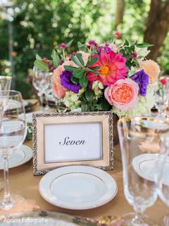 Creative Indian wedding table decor