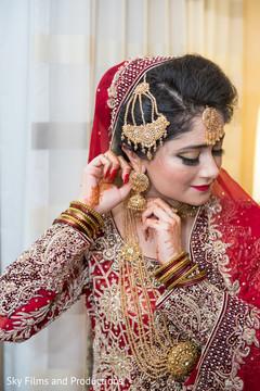 Dazzling indian bride earrings