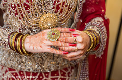Impressive indian bride's bangles and ring