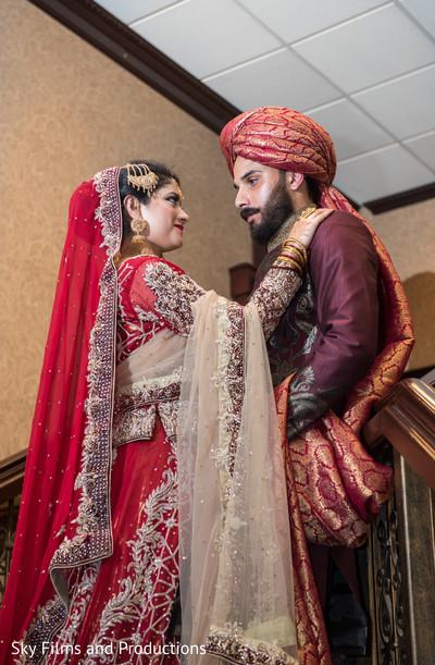 Romantic indian newlyweds capture